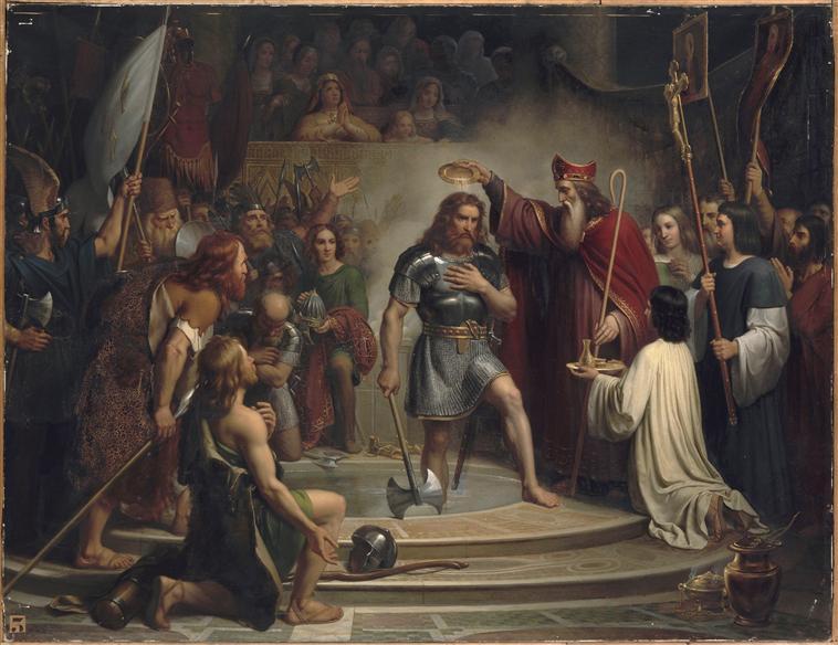 Prophetie de Saint Pie X, la France Fille aînée de l'Eglise dans Prières bapteme_clovis