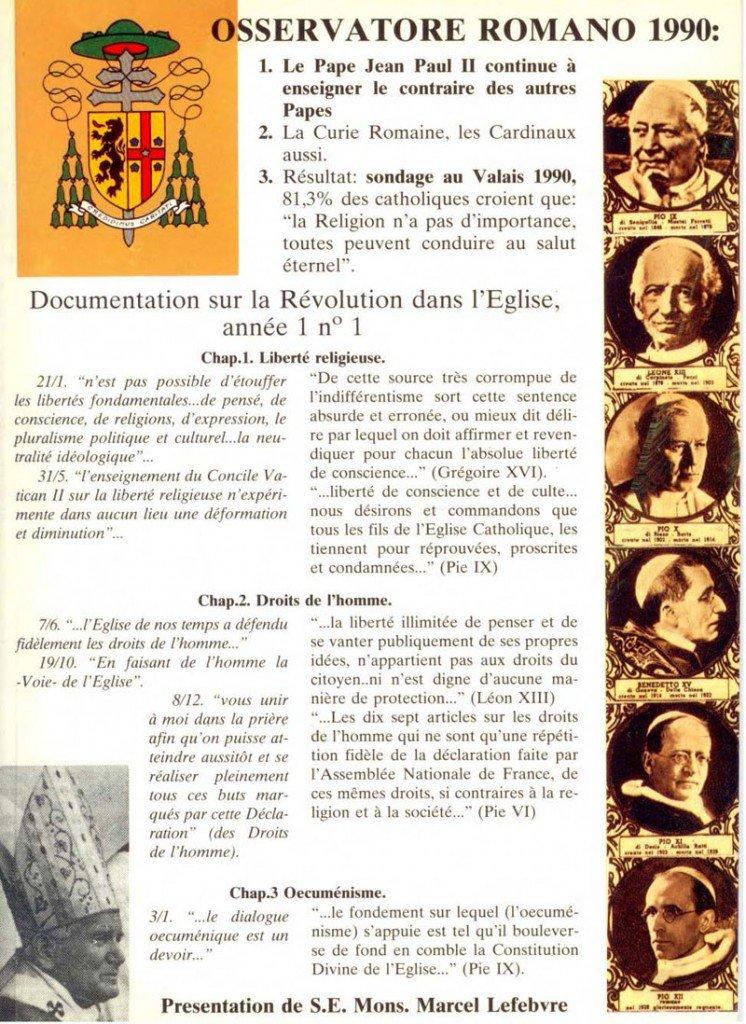 Déclaration de Mgr Lefebvre