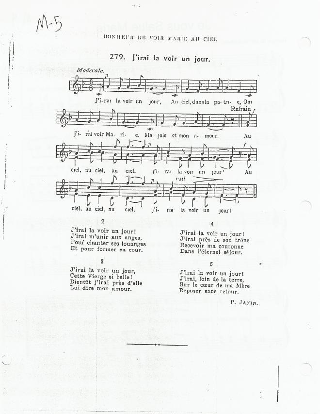 Sainte Vierge Marie chant